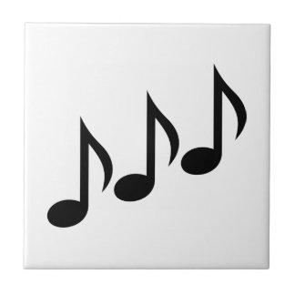 Notes music ceramic tile