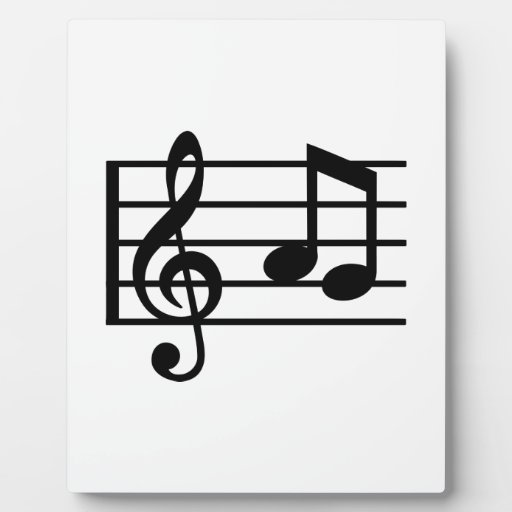 Notes music clef display plaques