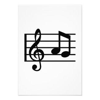 Notes music clef custom invites