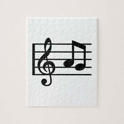 Notes music clef jigsaw puzzle