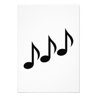 Notes music custom announcement