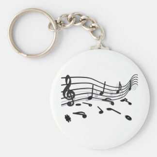 Notes, music keychain