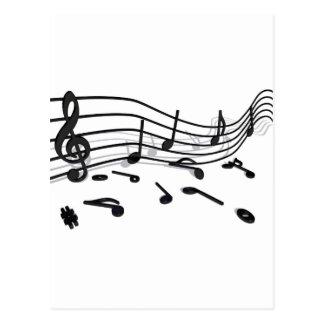 Notes, music postcard