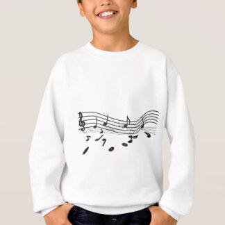 Notes, music sweatshirt