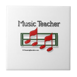 Notes Music Teacher Small Square Tile
