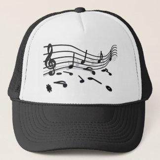 Notes, music trucker hat