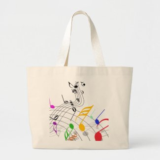 notes n staff jumbo tote bag