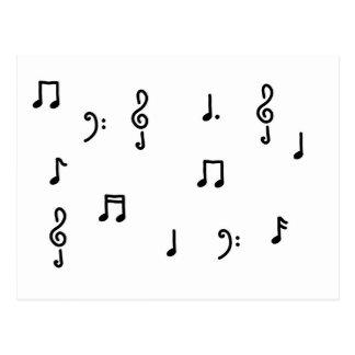 notes notenschlüssel violinschlüssel postcard