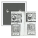 Notes of the Continental Currency 2 Inch Square Button