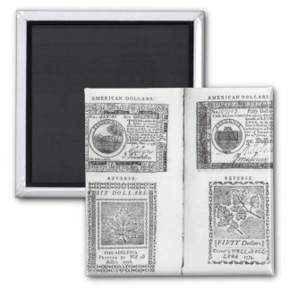 Notes of the Continental Currency Magnet