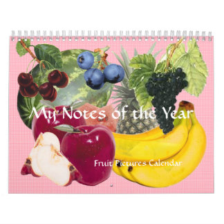 Notes of the Year Fruit Calendar