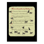 Notes on the Gentle Art of Herding Cats Postcard