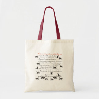 Notes on the Gentle Art of Herding Cats Tote Bag