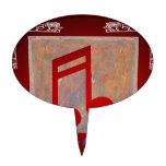 NOTES RED CUSTOMIZABLE PRODUCTS CAKE PICK