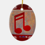 NOTES RED CUSTOMIZABLE PRODUCTS CHRISTMAS TREE ORNAMENT