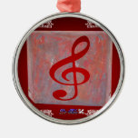 NOTES RED CUSTOMIZABLE PRODUCTS CHRISTMAS TREE ORNAMENTS