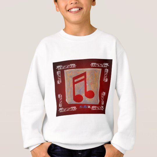 NOTES RED CUSTOMIZABLE PRODUCTS SWEATSHIRT