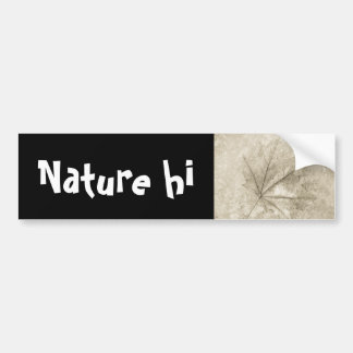 notes to beauty car bumper sticker