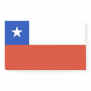 Notes with flag of Chile
