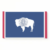Notes with flag of Wyoming, USA