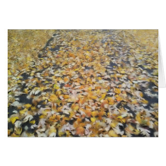 Noteworthy Autumn Leaves Card