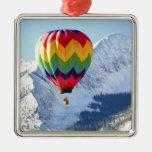 Noth America, USA, Colorado, Mt. Crested Butte, 2 Metal Ornament