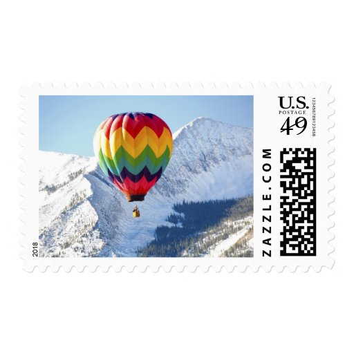 Noth America, USA, Colorado, Mt. Crested Butte, 2 Postage Stamp