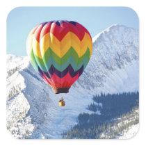 Noth America, USA, Colorado, Mt. Crested Butte, 2 Square Sticker