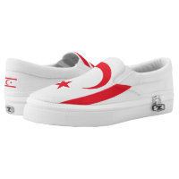 Nothern Cyprus Flag -.png Printed Shoes