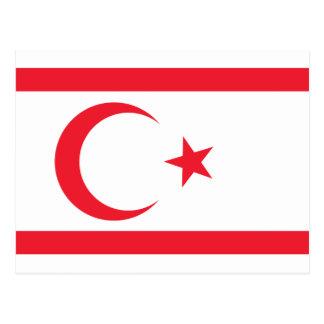 Nothern Cyprus Flag Postcard