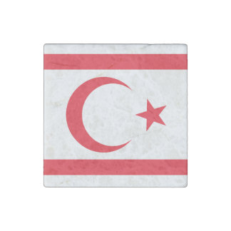 Nothern Cyprus Flag Stone Magnet
