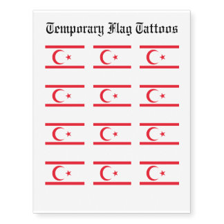 Nothern Cyprus Flag Temporary Tattoos