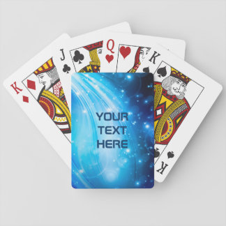 Nothern Light Stars blue + your text Deck Of Cards