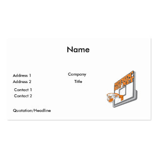 nothin but net basketball design business card