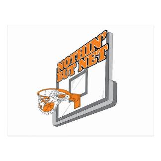 nothin but net basketball design postcard