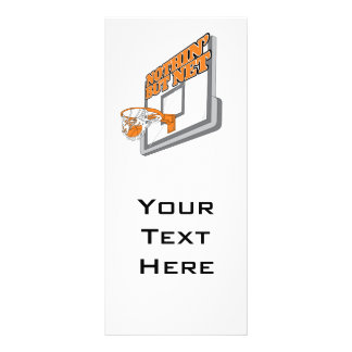 nothin but net basketball design rack card