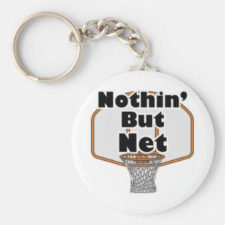 nothin but net basketball hoop basic round button keychain