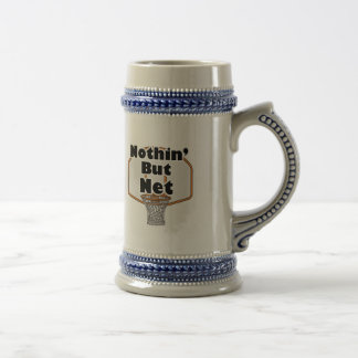 nothin but net basketball hoop beer stein