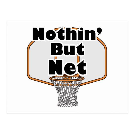 nothin but net basketball hoop postcard