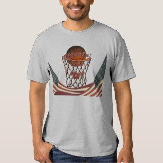 Nothin' But Net Basketball in Hoop T Shirt