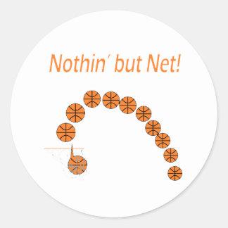 Nothin' But Net Classic Round Sticker