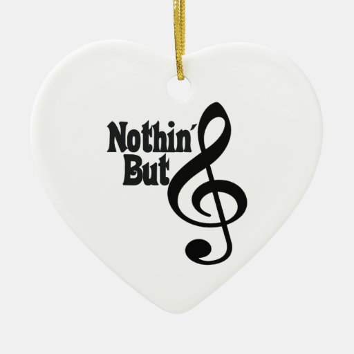 Nothin' But Treble Double-Sided Heart Ceramic Christmas Ornament