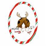 Nothin' Butt A Basset Christmas Ornament Photo Cutout