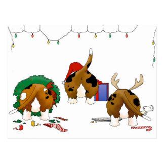 Nothin' Butt A Basset Christmas Postcard