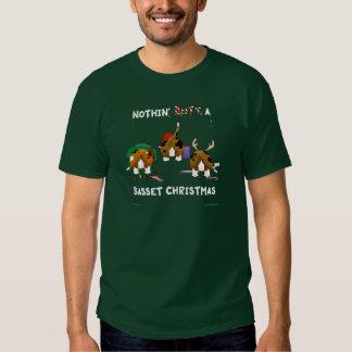 Nothin' Butt A Basset Christmas T-Shirt