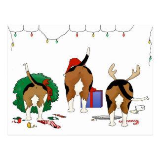 Nothin' Butt A Beagle Christmas Postcard