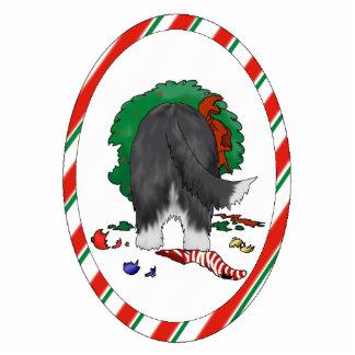 Nothin' Butt A Beardie Christmas Ornament