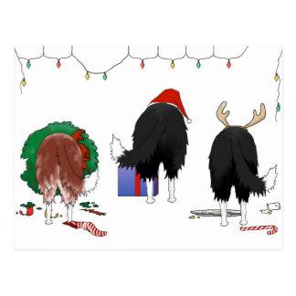 Nothin' Butt A Border Collie Christmas Postcard