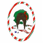 Nothin' Butt A Boston Terrier Christmas Ornament