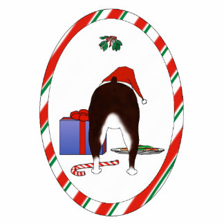 Nothin' Butt A Boston Terrier Christmas Ornament Photo Cutouts